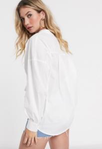 Vila oversized v neck shirt- $56